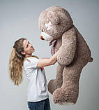 Плюшевий ведмедик Mister Medved з латками Капучіно 150 см, фото 4