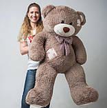 Плюшевий ведмедик Mister Medved з латками Капучіно 150 см, фото 5