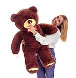 Плюшевий ведмедик Mister Medved Бурий 130 см, фото 3