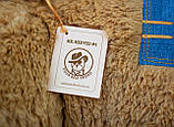 Плюшевый мишка Mister Medved Латте с джинсовыми латками 150 см, фото 7
