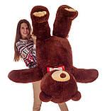 Плюшевий ведмедик Mister Medved Бурий 160 см, фото 4