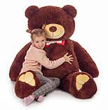 Плюшевий ведмедик Mister Medved Бурий 160 см, фото 5