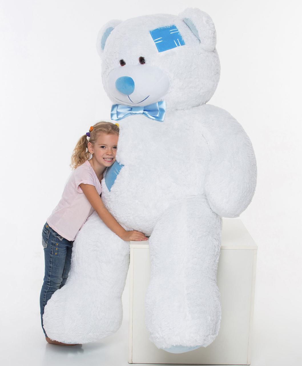 Плюшевий ведмедик Mister Medved з латками Білий 2 метри