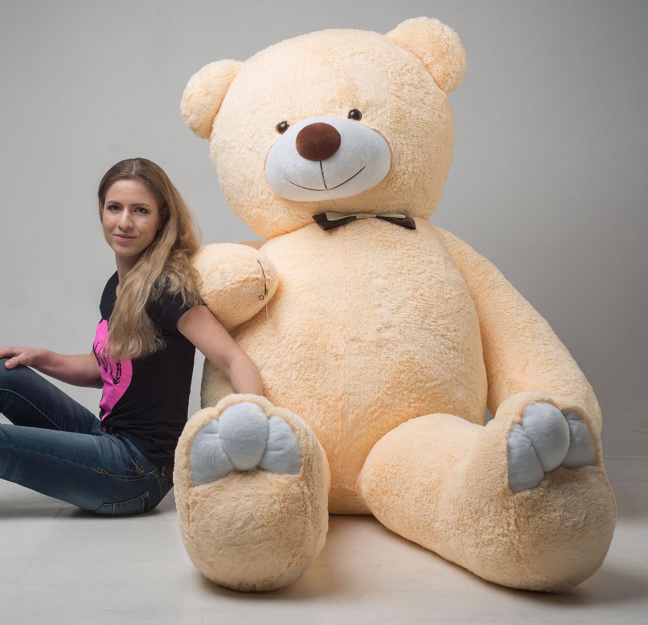Плюшевий ведмедик Mister Medved Бежевий 2 м 50 см