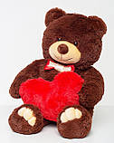 Мишка с сердцем Mister Medved Бурый 85 см, фото 3
