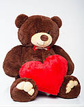 Мишко з серцем Mister Medved Бурий 130 см, фото 2