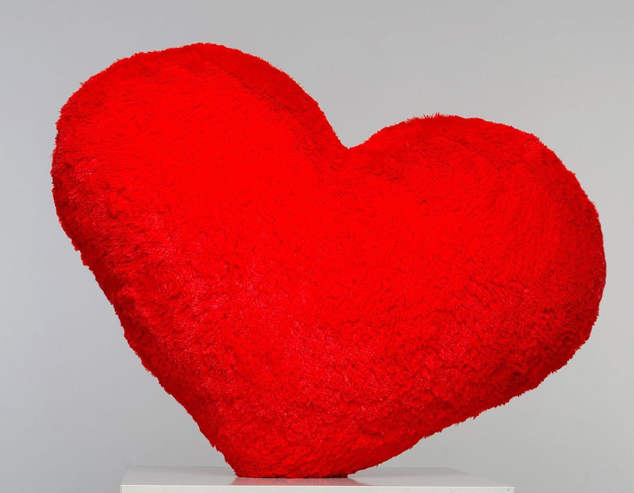 Плюшевая игрушка Mister Medved Подушка-сердце Красная 30 см
