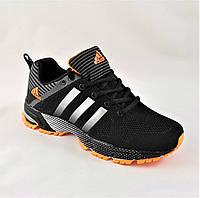 Кроссовки Adidas Fast Marathon Чёрные Мужские Адидас (размер 44)