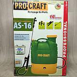 Акумуляторний садовий обприскувач Procraft AS-16 Professional (16р, 12Ач.), фото 2