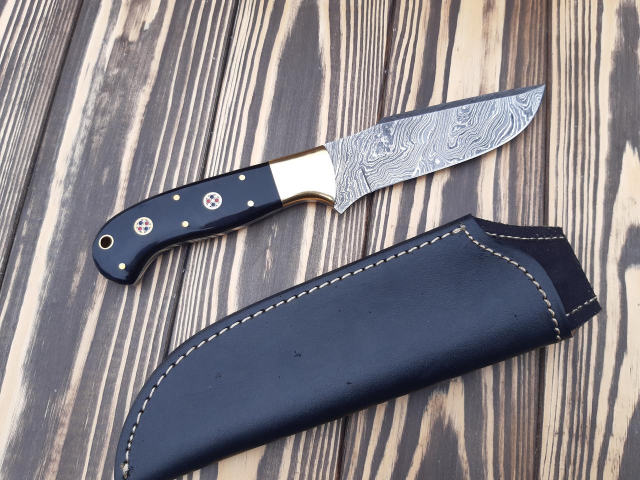 Нож Дамаск рог буйвола  ручная работа  s-133