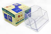 Подставка для визиток на 2 отделения Leader,пластик 501-10-HQ022