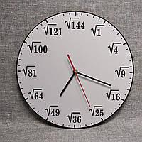 """Часы настенные """"Корень квадратный"""" 35 см. для кабинета математики"""