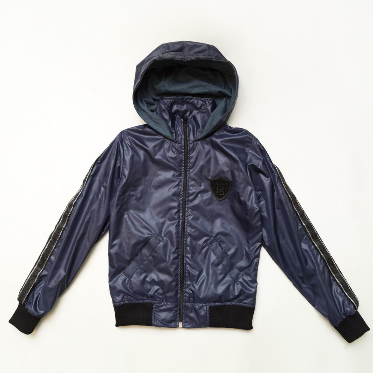 Куртка ветровка для подростка р.146.152,158,164 SmileTime на подкладе Fashion Time, темно-синий