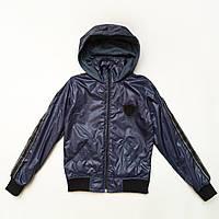 Куртка ветровка для подростка р.146.152,158,164 SmileTime на подкладе Fashion Time, темно-синий, фото 1