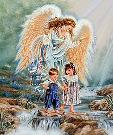 """Набор алмазной вышивки (мозаики) """"Ангел - детей Хранитель"""""""