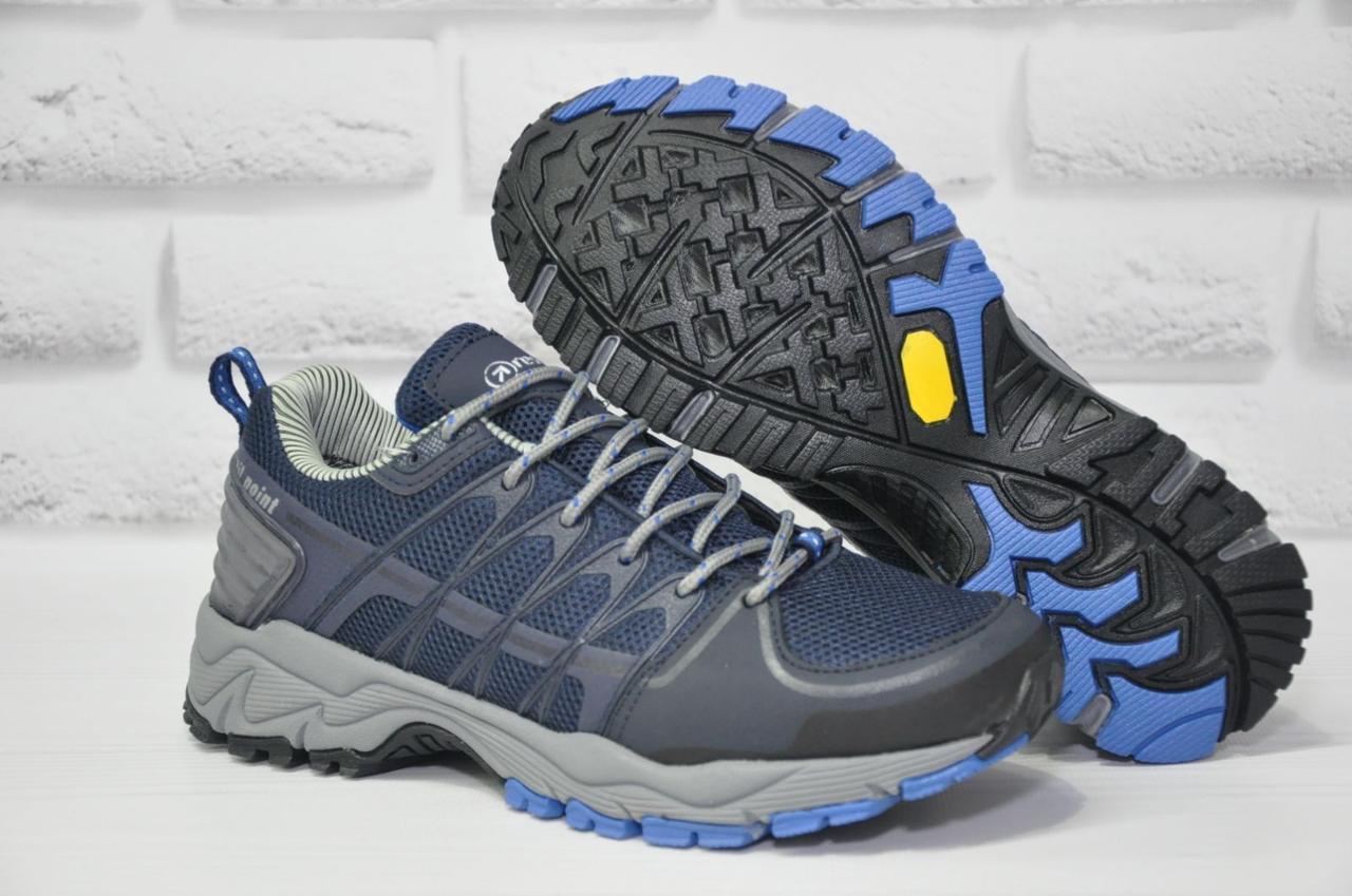 Чоловічі сині кросівки на мембрані Restime (розміри:40,41,42,43,44,45)