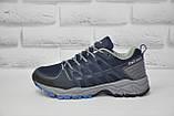 Чоловічі сині кросівки на мембрані Restime (розміри:40,41,42,43,44,45), фото 3