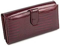 Бордовий лаковий гаманець для карток на магнітах Marco Coverna