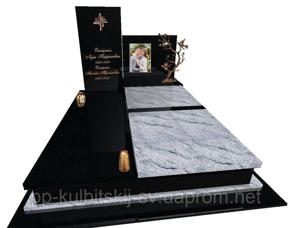 Пам'ятник гранітний подвійний Ексклюзивний S1420