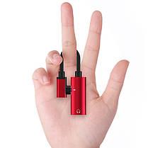 Адаптер-Переходник Type-C для зарядки телефона и подключения наушников Mini Jack 3.5мм LA002 Red, фото 2