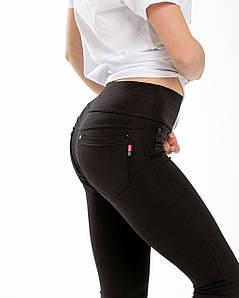 Лосины женские микродайвинг черные №475Ч с карманами