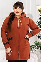 Пальто женское кашемировое супербатал размеры 50-64 цвет коричневый весна