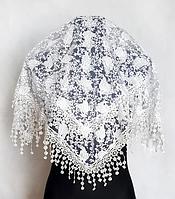 Праздничный платок Fashion Ангелина 80*80 см белый 1
