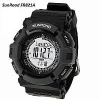 Часы спортивные FR821A для туризма (компас, альтиметр, барометр, шагомер..). Водозащита 3АТМ