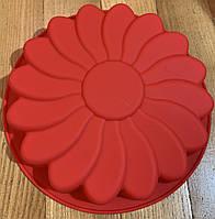 Силиконовая форма круглая для торта, кекса 22,5 см