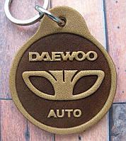 Автобрелок из кожи Daewoo Деу брелок для ключей, фото 1