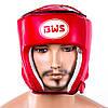 Шлем боксерский открытый BWS (р-р S-L, красный)