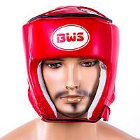 Шлем боксерский открытый BWS (р-р S-L, красный), фото 1