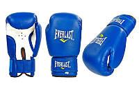Перчатки для бокса и единоборств на липучке Everlast 0033 синий-белый 12 унций