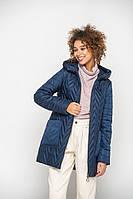 Практичная женская синяя куртка 46-56