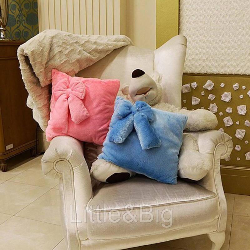 Светящаяся подушка-ночник с бантиком
