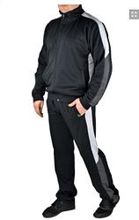 Мужской спортивный костюм, большого размера, брюки прямые, тр-ж двунитка, р. L, XL ,XXL, 3ХЛ черный