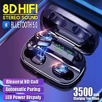 Беспроводные наушники с зарядным футляром 3500 mАч Air Pro TWS S11 блютус 5.0