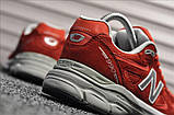Кросівки New Balance 990 Red White, фото 3