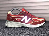 Кросівки New Balance 990 Red White, фото 4