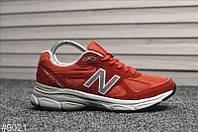 Кроссовки New Balance 990 Red White, фото 1