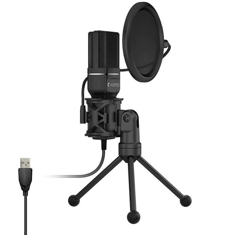 Конденсаторный микрофон Yanmai SF-777 + (стойка и поп-фильтр)