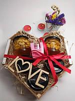 Подарочный набор №10 из 5ти баночек крем-меда и арома свеча подарок девушке День Святого Валентин 14 февраля
