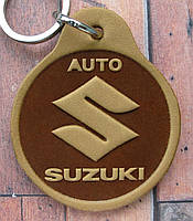 Автобрелок из кожи Suzuki Сузуки брелок для ключей, фото 1