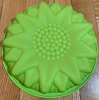 Силиконовая форма круглая для торта, кекса 25 см
