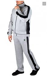 Мужской спортивный костюм, большого размера, брюки прямые, тр-ж двунитка, р.  L, XL ,XXL ,3XL (мод036) меланж