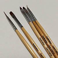 Кисти для маникюра геля акрила росписи ногтей kolinsky Germany набор из пяти кисточек колински