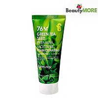 Пенка для умывания с зелёным чаем Farmstay Green Tea Seed Premium Moisture Foam Cleansing