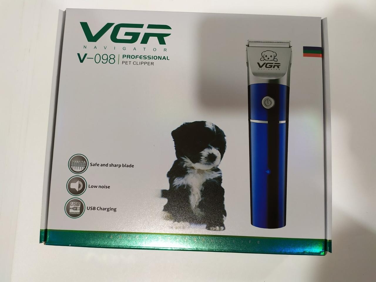 Аккумуляторная беспроводная машинка для стрижки животных VGR V-098