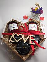 Подарочный набор №13 из 5ти баночек крем-меда интересный подарок на День Святого Валентина 14 февраля