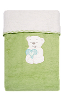 Одеяло плед двухстороннее с вышивкой для детей Womar 100х150 см  60*40